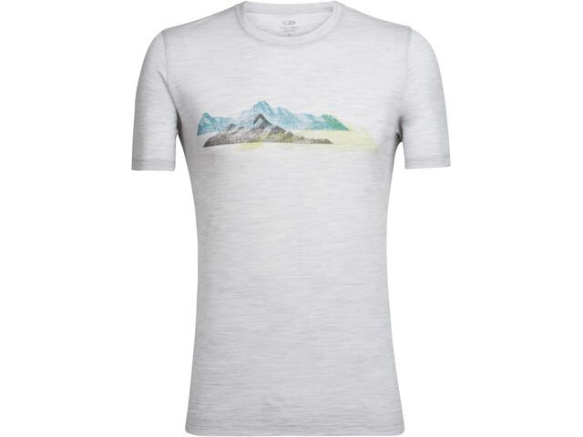 Icebreaker Tech Lite Misty Peaks SS Crewe Shirt Men blizzard hthr